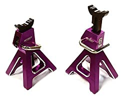 Integy Rc Hobby C26409 Purple Realistic Model 6 Ton Jack Stands (2) For 1/10, 1/8 Scale & Rock Crawler