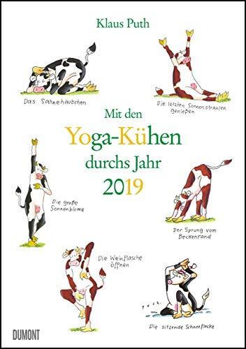 Mit den Yoga-Kühen durchs Jahr 2019 - Lustige Cartoons - Wandkalender - Format 29,5 x 42,0 cm