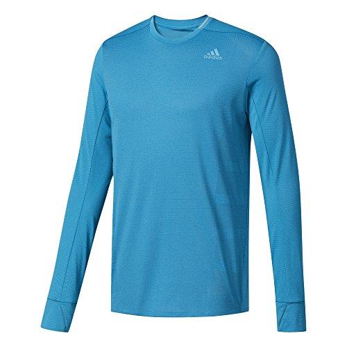 Herren Supernova Long Sleeve Top (adidas Herren Supernova Longsleeve T-Shirt, Mystery Petrol, L)