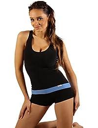 SK0023 STANTEKS Damen Badeanzug mit Cups und Bein Schwimmanzug Schwimmbekleidung Swimsuit