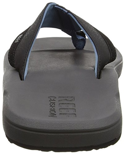Reef Contoured Cushion, Tongs Hommes Multicolore (Grey/Blue)