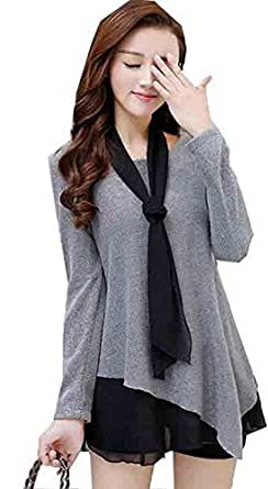 Harikrishnavilla Women's Cotton Top, Grey