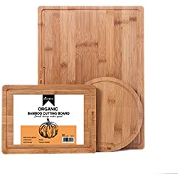 holymood 3piezas Tabla de cortar de bambú de queso y embutido Junta