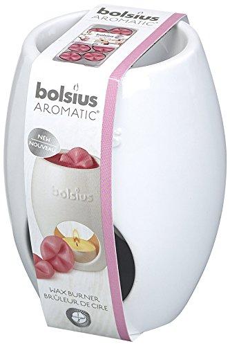 Bolsius Duftlampe Stövchen Brenner oval weiß für Duftme
