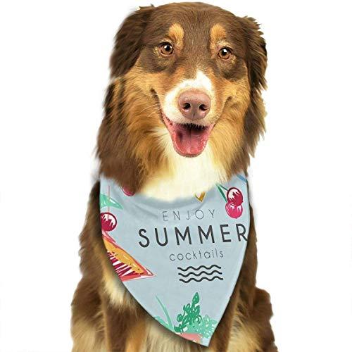 Osmykqe Hund Bandana Summer Lätzchen Trangle Kopftuch für Katzen Pupply Big Dog Soft -