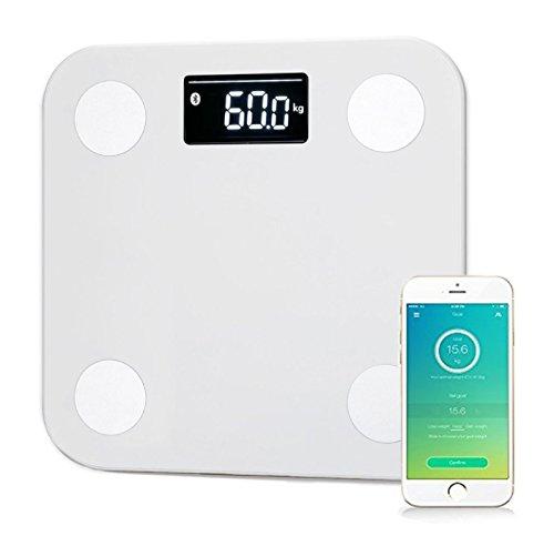 YUNMAI Bluetooth Personenwaage mit APP für Körpergewicht, Fett, BMI, BMR, Protein, Muskel usw.