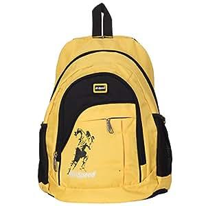 Hi-Speed Unisex Nylon Casual Backpack (Yellow)