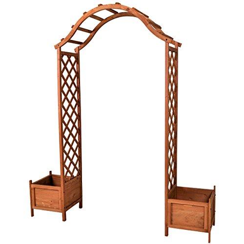 floristikvergleich.de Nexos Holzeingang Torbogen Rosenbogen Rankhilfe Spalier Pergola Topfstellplätze Holz