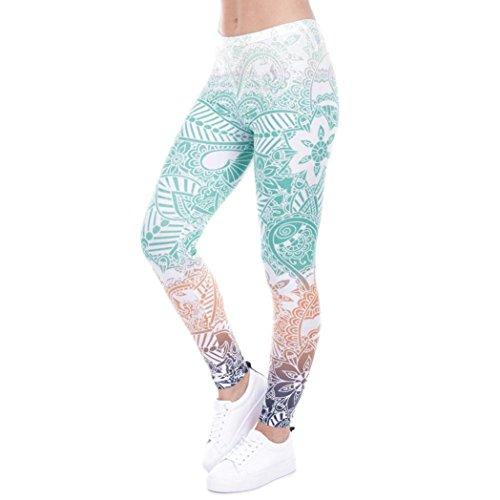 DAYSEVENTH PANTS Women Fashion Leggings Color Print Fitness Legging High Elasticity Trouser Pants