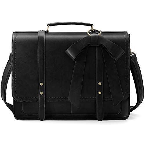 ECOSUSI Sac Cartable Femme Vintage Grand Sac en...