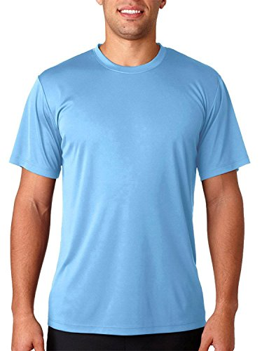 Hanes Men's Cool Dri UPF 50 Moisture Wicking T-Shirt, Light Blue, Small (Cool-dri Wick)