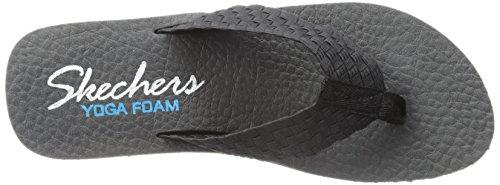 Skechers Vinyasa Beweave It, Sandales Compensées femme Noir