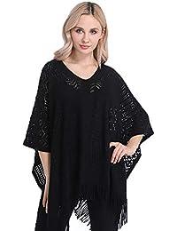 MMCP Poncho de Las Mujeres suéter, Hueco de Punto Jersey de Primavera y otoño Capes
