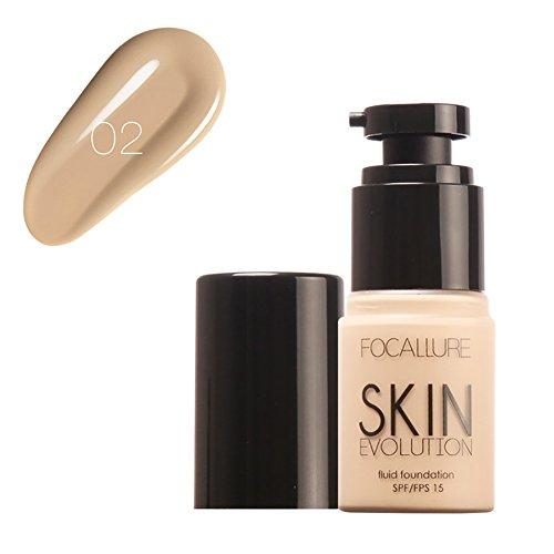 ROPALIA Gesicht Foundation Base Liquid Foundation BB Whitening Feuchtigkeitscreme Maquiagem SPF 15 (Coverage Fuller)