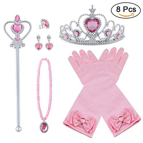 Vicloon Princesa Vestir Accesorios 4 Pcs Regalo Conjunto de Belleza Co