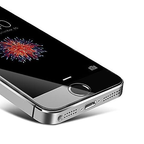 iphone 5s Panzerglas Schutzfolie,Coolreall displayschutzfolie für APPLE iPhone 5 5s 5C SE 9H Härtegrad ltra-klar panzerfolie(0.33mm)