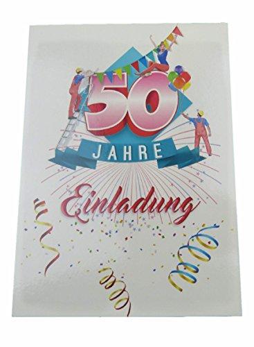 Geburtstag mit Text auf der Rückseite. 50 Jahre Postkarten 20 Stück im Set zum runden Geburtstag. Ausfüllen, überreichen oder mit der Post verschicken. (50 Geburtstag - 20 Stück) ()