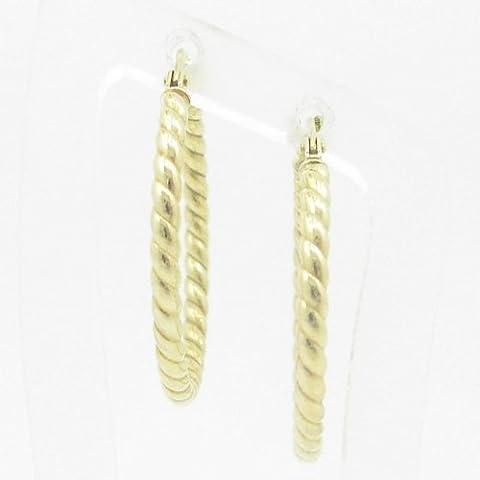 Silvergold Damen 10K gold und 925italienisches Sterling Silber Ohrringe Fancy Kugel Hoop Huggie Ohrstecker Fashion baumeln Swag HE6