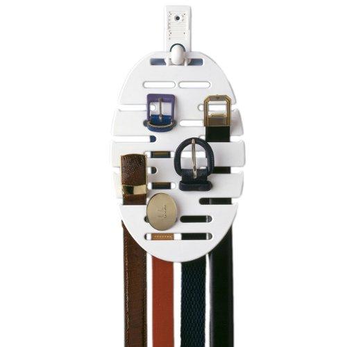 Rayen 2204 - Colgador de cinturones con soporte autoadhesivo y capacidad de hasta 20 cinturones