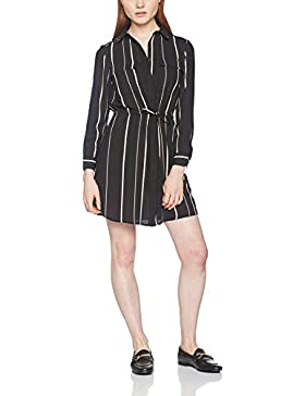 New Look Damen Kleid Stripe Tie Sleeve Shirt