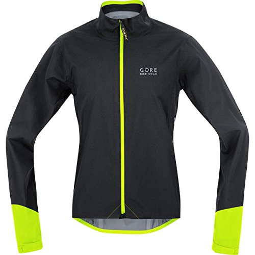 Gore Bike Wear JGPOWR990806 Giacca Uomo Ciclismo su strada, Impermeabile, GORE-TEX Active, POWER GT AS, Taglia XL, Nero/Giallo