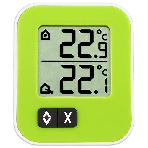 TFA Dostmann Moxx digitales Innen-Außen-Thermometer, 30.1043.04, Höchst- und Tiefwerte, zur Temperaturüberwachung