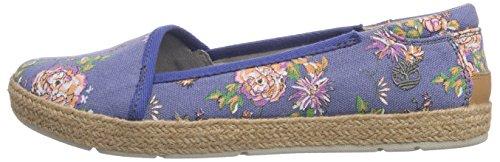 Timberl Casco Bay FTW EK  Women s Ballet Flats   Dutch Blue Floral Jute R    7 UK  40 EU