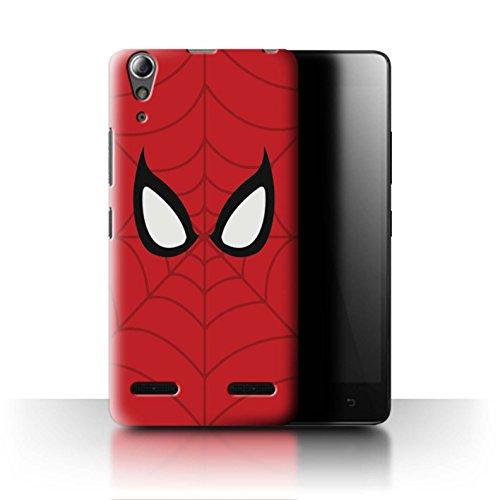 Stuff4® Hülle/Case für Lenovo A6000 / Spider-Man Maske Inspiriert Muster/Superheld Comic-Kunst Kollektion