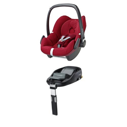 Maxi-Cosi Pebble, Babyschale Gruppe 0+ (0-13 kg), robin red, mit Isofix-Station