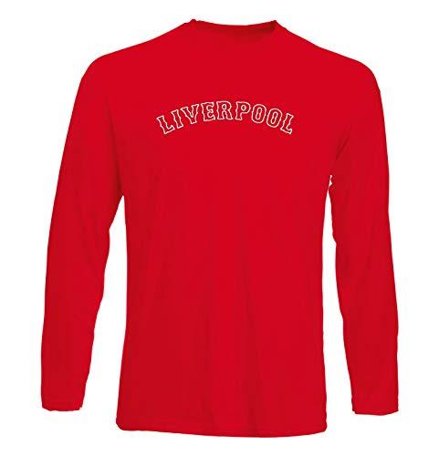T-Shirt Langer Armel Mann Rot WC0465 Liverpool Liverpool Fenway