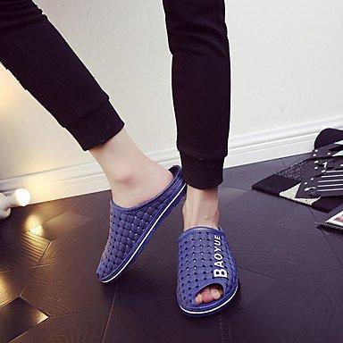 Slippers & amp da uomo;Estate slingback gomma casuale piani del tallone Sandali Nero Marrone Blu sandali US7.5 / EU39 / UK6.5 / CN40