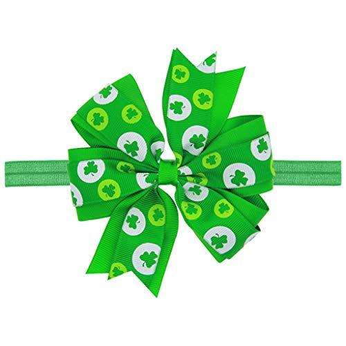 SMILEQ St Patrick Tagesgrünes irisches Babyhaar-Stirnband-elastisches Bogen-Entwurfs-Haarband...