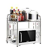 Cubic Kitchen Storage Organizer, Silver - H 53 cm x W 50 cm x D 35 cm