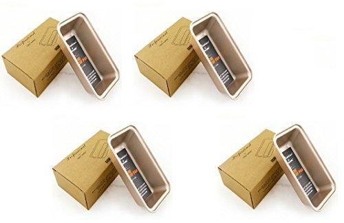 Kastenform Aluminiumguss Mini Set von 4Für Backen Brot NFZ gradeglod leicht Release reinigen Haltbares