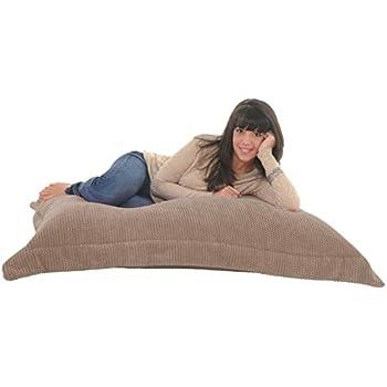 RAVIOLI GIANT BEAN BAG   OCEAN CORD Soft U0026 Snugly Floor Cushion Beanbag  (Mink)