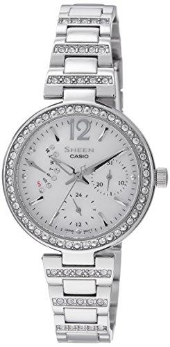 41iHCfAZx2L - Casio Sheen Silver Women SHE 3043D 7AUDR watch