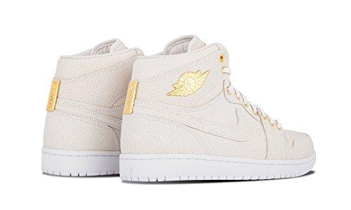 Nike Air Jordan 1 Pinnacle, Chaussures de Sport Homme, Noir Multicolore - Blanco / Dorado (White/Metallic Gold)