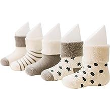 VWU Baby Socken Erstlingssöckchen Dicke Manschette Baumwolle 5er Pack