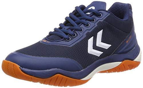 hummel Unisex-Erwachsene DUAL Plate Skill Multisport Indoor Schuhe, Blau (Poseidon 8616), 45 EU