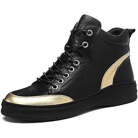 Autunno inverno in vera pelle nera Scarpe Casual moda classico Outdoor scarpe uomo , women , 42