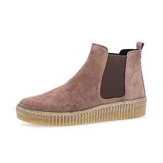 Gabor Damen Chelsea Boots 33.731, Frauen Stiefelette/Röhrli,Stiefel,Halbstiefel,Bootie,Schlupfstiefel,flach,Dark-Rose (Natur),39 EU / 6 UK