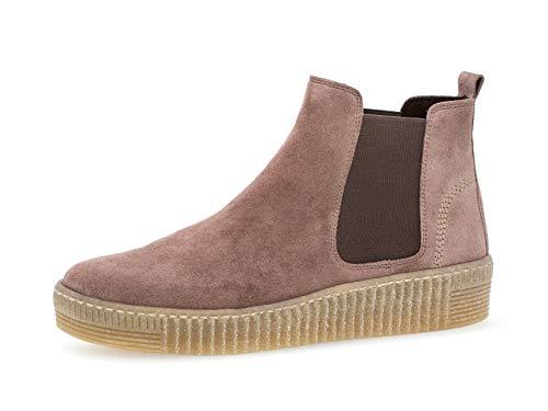 Gabor Damen Chelsea Boots 33.731, Frauen Stiefelette,Stiefel,Halbstiefel,Bootie,Schlupfstiefel,flach,Dark-Rose (Natur),40 EU / 6.5 UK