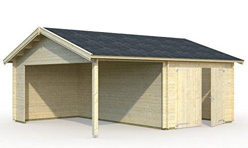 Palmako Holzgarage Garage 5 mit Holztor - Roger 16,1+13,1 m² mit Holztor