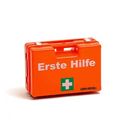 LEINA-WERKE 21001 QUICK Erste Hilfe-Koffer mit Druck: 2-Farb, Ohne Inhalt, Orange, 10 Stück