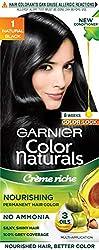 Garnier Color Naturals Shade 1 Natural Black, 70ml + 60g
