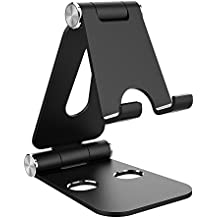 Simpeak Soporte Tablet, Multi-Ángulo Soporte de Aluminio Nintendo Switch Soporte Tablets Stand, iPad Mini 2 3 4, iPad Air, iPhone x, Samsung Galaxy Tab, Fire HD 8 Tablet, Otras Tabletas, Negro