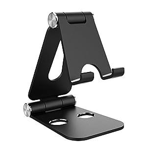 Simpeak Ständer Kompatibel für iPad/Switch Lite, Faltbar Aluminum Stand Verstellbar Docking Station Kompatibel mit iPhone/Switch Lite und Tablets – Schwarz