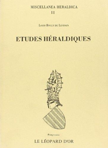 Études héraldiques par Louis Bouly de Lesdain