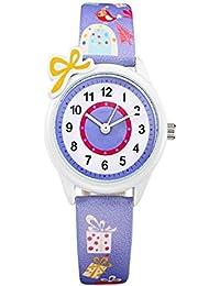 Top Brand - Reloj de pulsera para niños con correa de piel de dibujos  animados analógica de cuarzo 6e83bb0ab98b