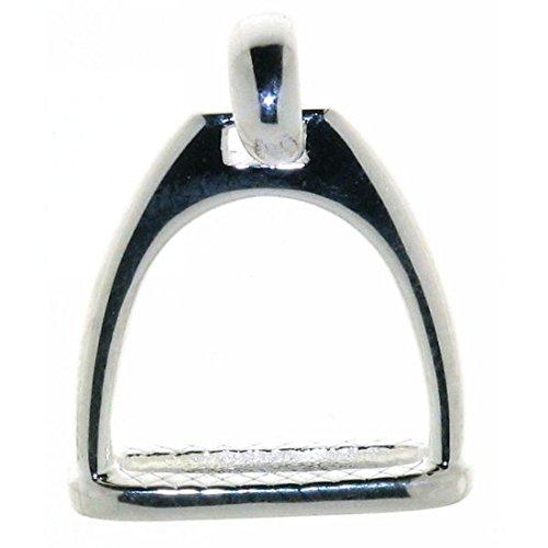 Derby Anhänger Steigbügel massiv echt Silber 23071